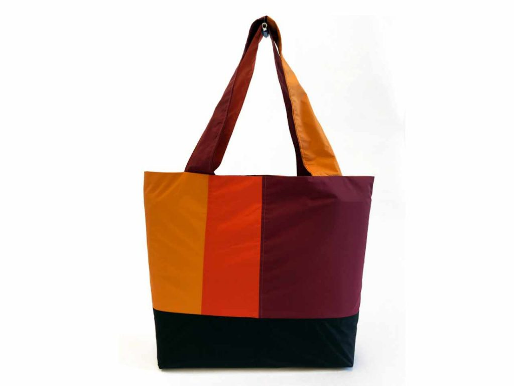Refleece tote bag, made from up-cycled jackets