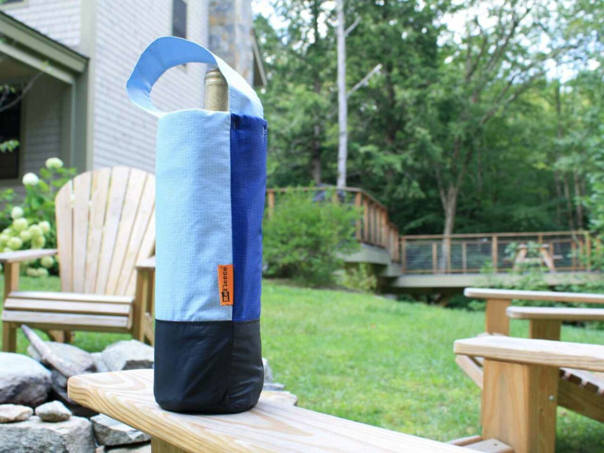 Sustainably made Refleece Wine Tote